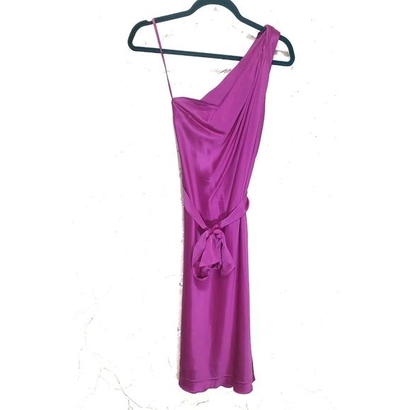 Banana Republic One Shoulder Silk Dress